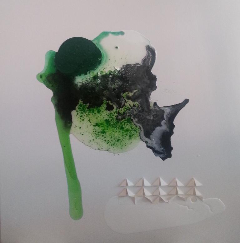1 - 2014 - Bardarbunga - cm 60x60 - mixed media technique on canvas - 2014
