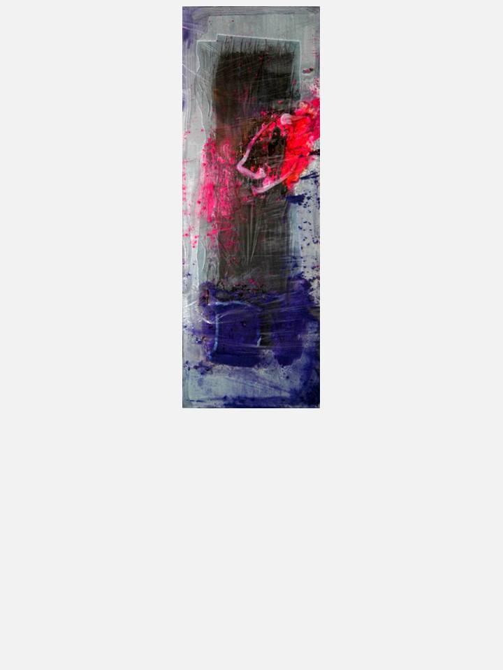 1. contraddizioni 1 - cm 100 X 35 - mixed media technique on canvas