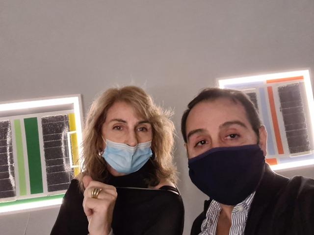 18 LUCEAN, Borghini Arte Contemporanea, the gallerist Tamara Borghini and me