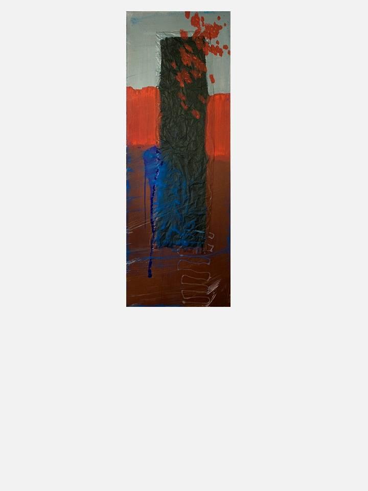 2 - il crollo – 35 X 100 cm – mixed media technique on canvas