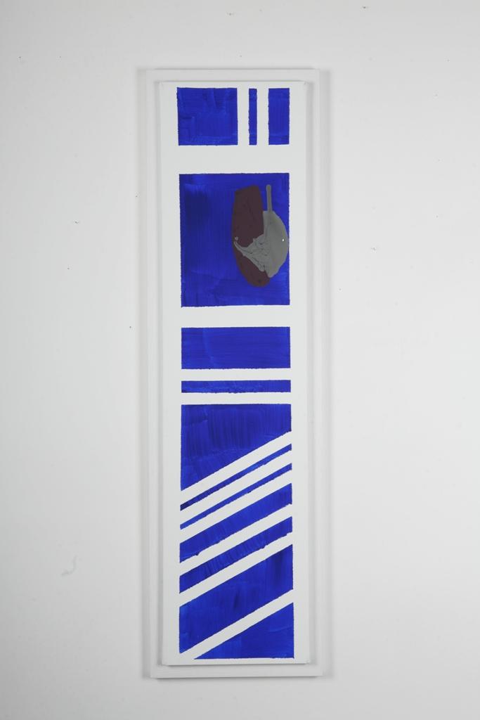2 levels of turmoil 120X30 cm mixed technique on canvas