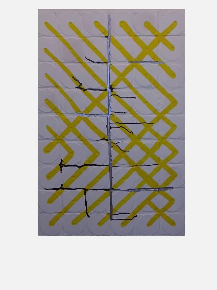 2013 - città sonore - cm 80 x 120 -  mixed media tecnique on canvas
