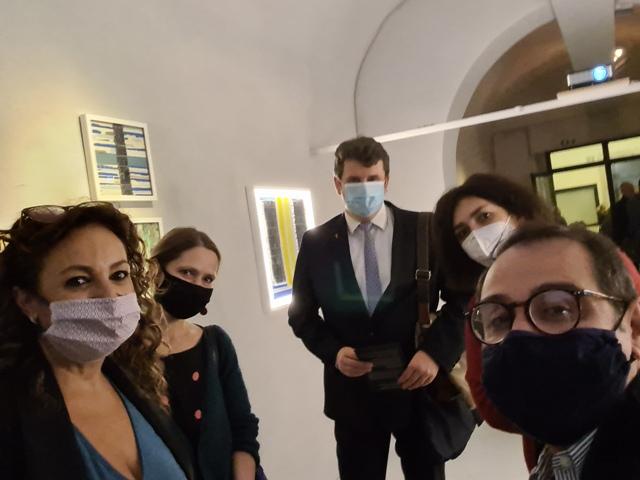 22 LUCEAN, Borghini Arte Contemporanea, with the Director of the Polish Institute of Culture in Rome Lukasz Paprotny and Anna Jagello
