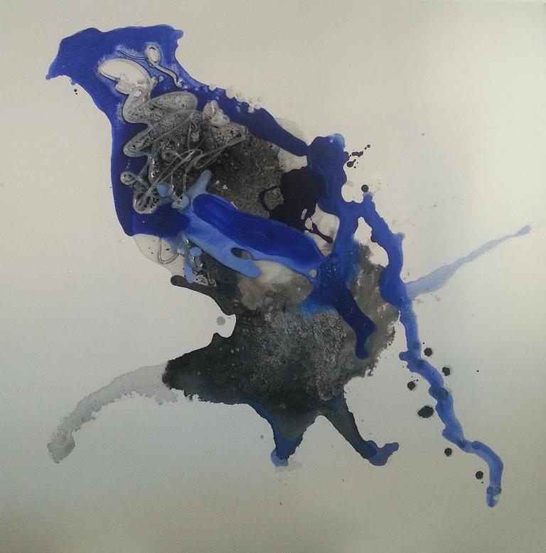 3 - 2014 - Israeli bat - cm 80x80 - mixed media technique on canvas - 2014