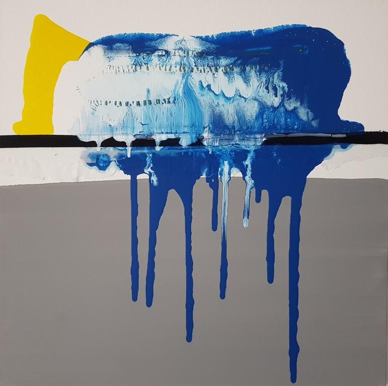 3 - 2017 ICEBERG n.1 - cm 60x60 - mixed technique on canvas