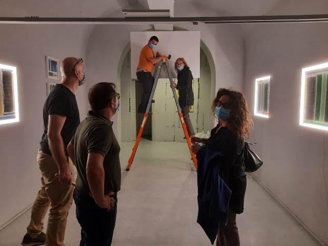 3 LUCEAN, Borghini Arte Contemporanea, set up of the exhibition