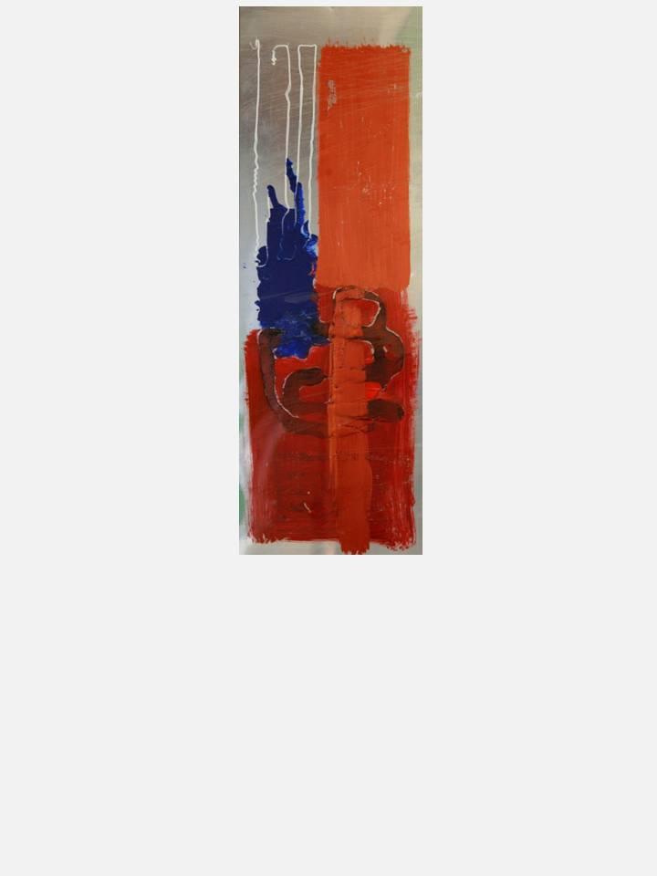 3 - osmosi sociale – 35 X 100 cm – mixed media technique on aluminium