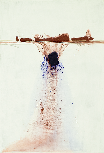 313. Untitled - cm 50x70 - mixed media technique on canvas - 2014 - photo by Carolina Farina