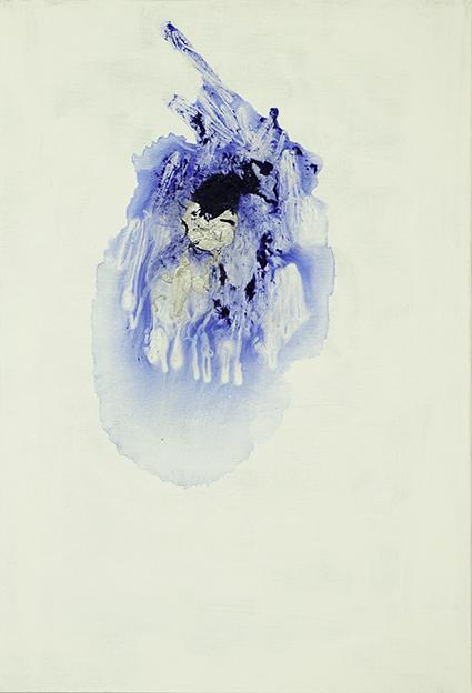 314. Untitled - cm 50x70 - mixed media technique on canvas - 2014 - photo by Carolina Farina
