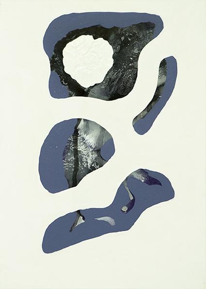 315. Untitled - cm 50x70 - mixed media technique on canvas - 2014 -  photo by Carolina Farina