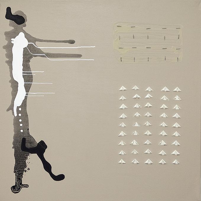 321 - 2014 - untitled - cm 90 x 90 - mixed media on canvas - photo Carolina Farina
