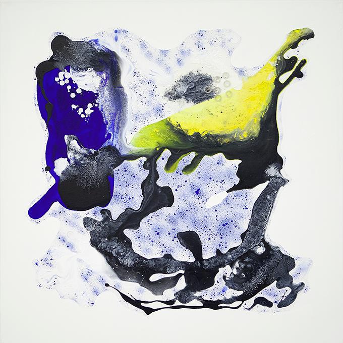 325 - 2015 - untitled - cm 90 x 90 - mixed media on canvas - photo Carolina Farina