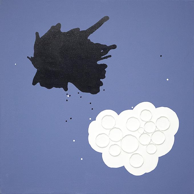 326 - 2015 - untitled - cm 90 x 90 - mixed media on canvas - photo Carolina Farina