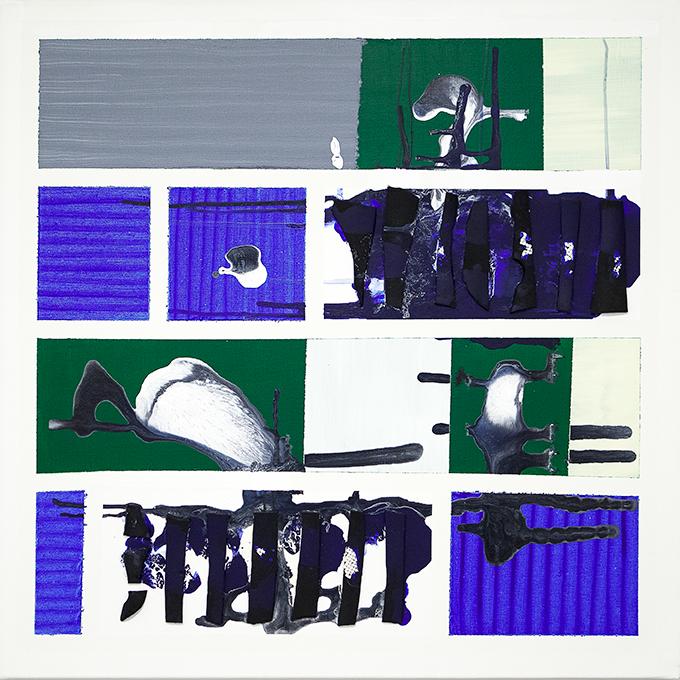 328 - 2015 - untitled - cm 90 x 90 - mixed media on canvas - photo Carolina Farina