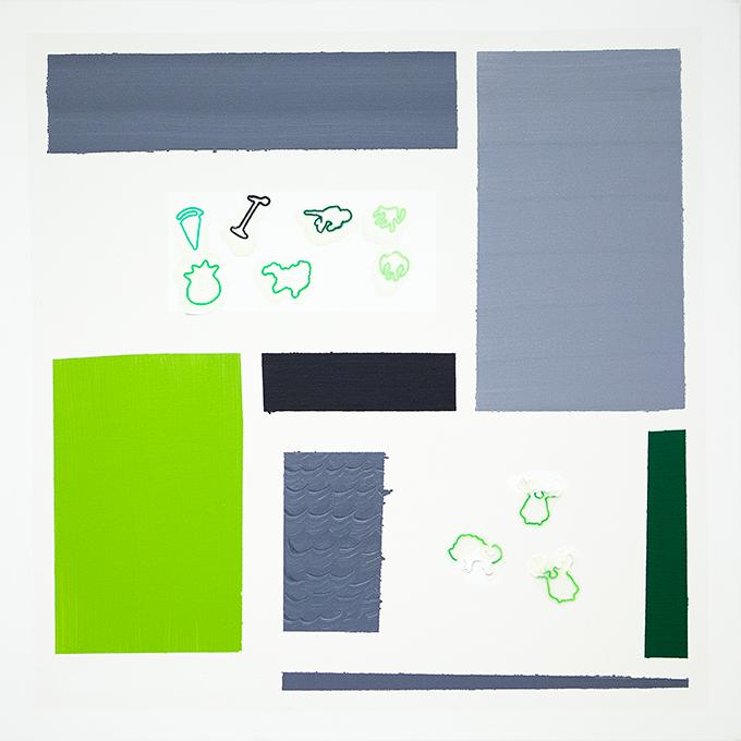 334 - 2015 - untitled - cm 90 x 90 - mixed media on canvas - photo Carolina Farina