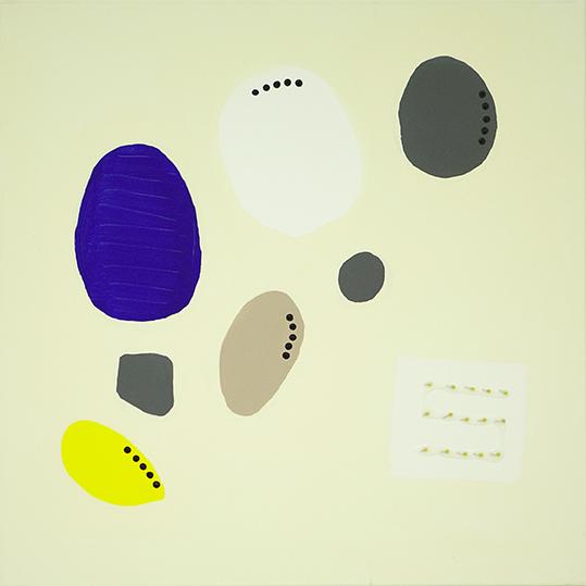 334b. untitled - cm 70 x 70 - mixed technique on canvas - 2015 - ph Carolina Farina