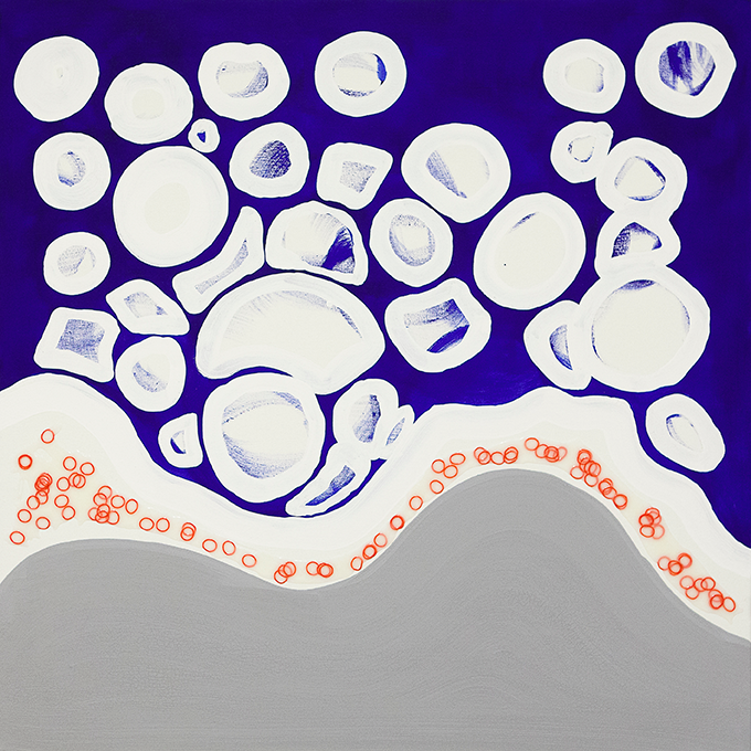 335 - 2015 - untitled - cm 90 x 90 - mixed media on canvas - photo Carolina Farina