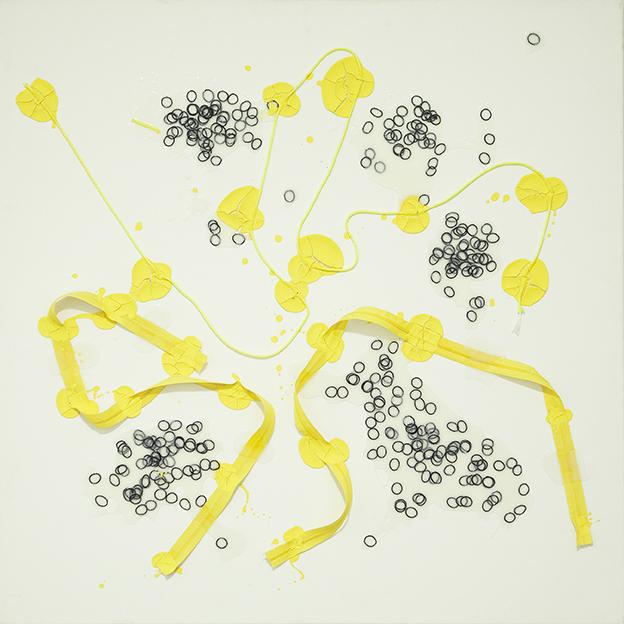 336 - 2015 - untitled - cm 90 x 90 - mixed media on canvas - photo Carolina Farina