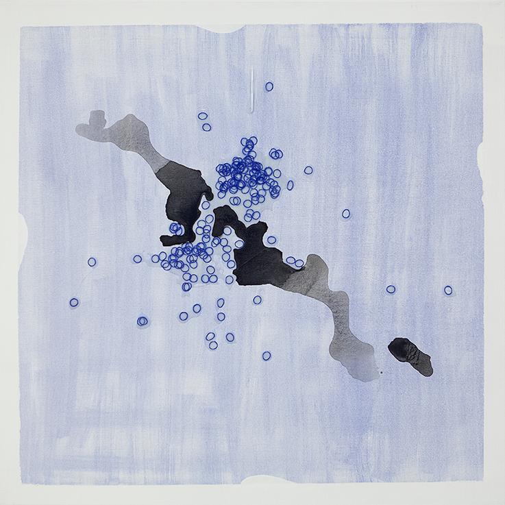 347. untitled - cm 100 x 100 - mixed technique on canvas - 2015 -  ph Carolina Farina