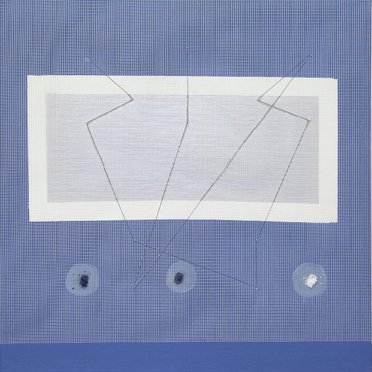 348. untitled - cm 100 x 100 - mixed technique on canvas - 2015 -  ph Carolina Farina