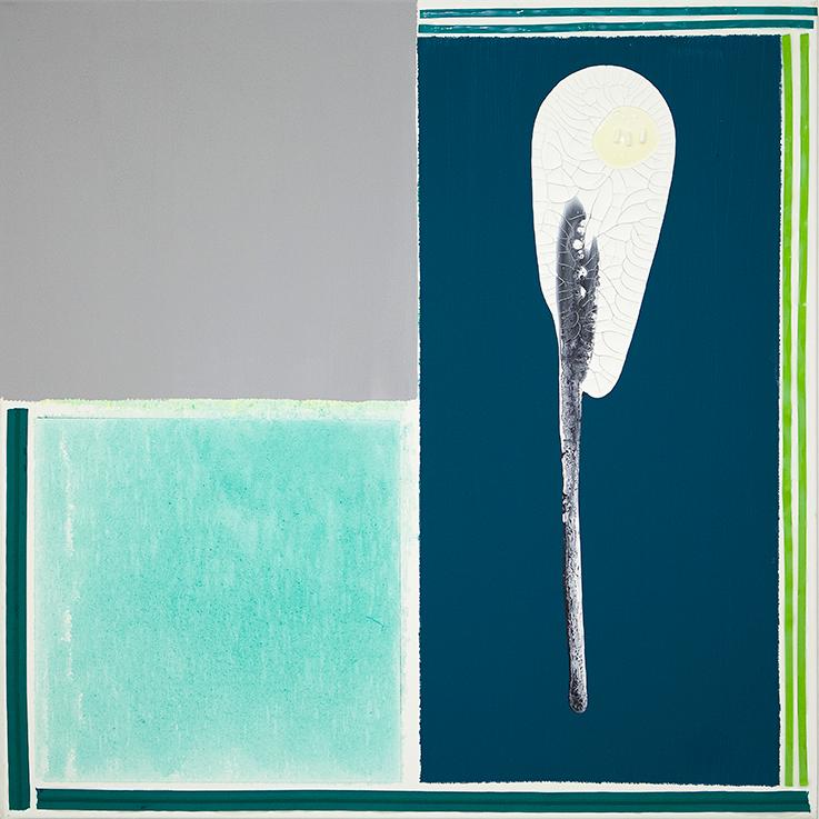 352. untitled - cm 100 x 100 - mixed technique on canvas - 2015 -  ph Carolina Farina