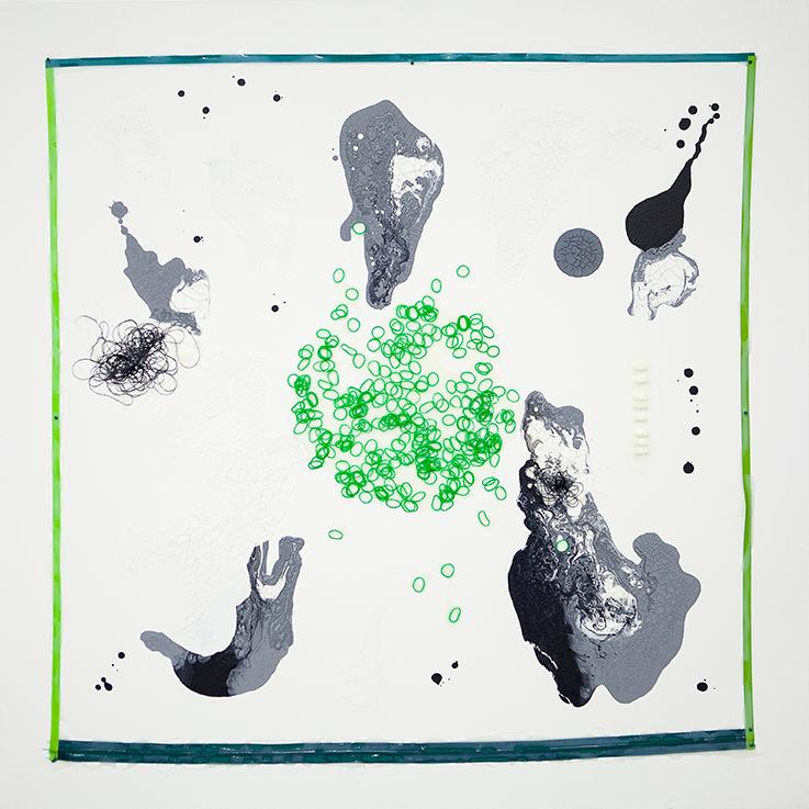 355. untitled - cm 100 x 100 - mixed technique on canvas - 2015 -  ph Carolina Farina