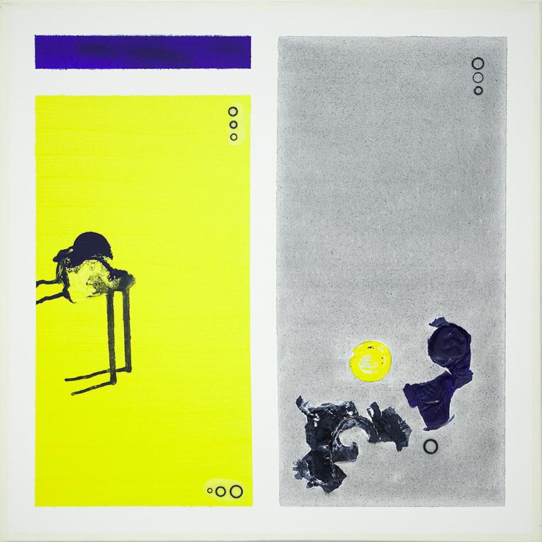 357. untitled - cm 100 x 100 - mixed technique on canvas - 2015 -  ph Carolina Farina