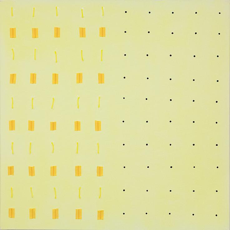 359. untitled - cm 100 x 100 - mixed technique on canvas - 2015 -  ph Carolina Farina