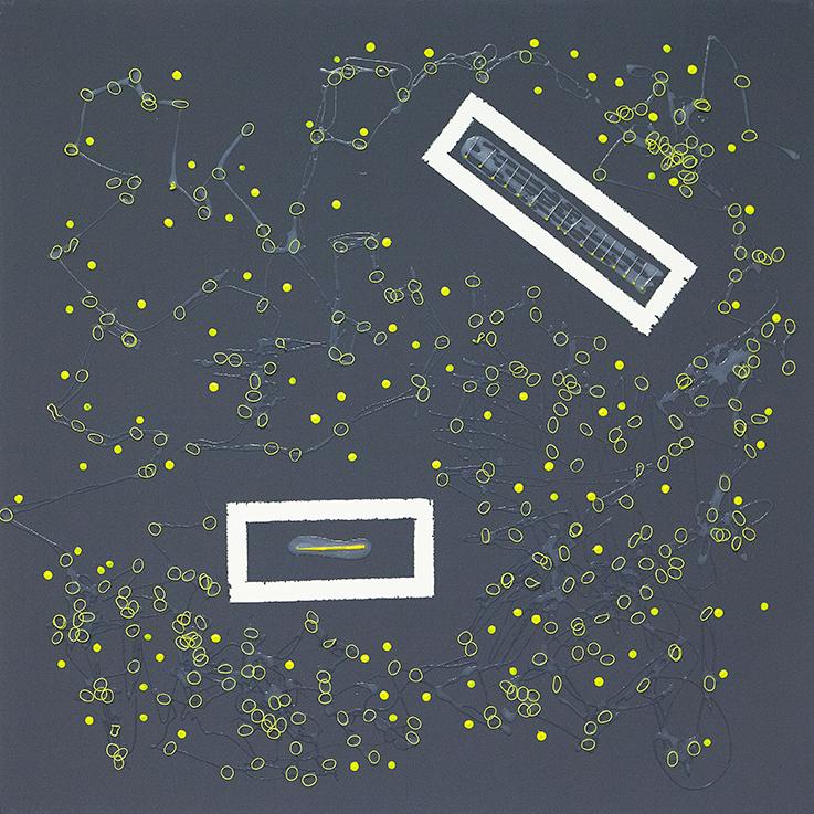 361. untitled - cm 100 x 100 - mixed technique on canvas - 2015 -  ph Carolina Farina
