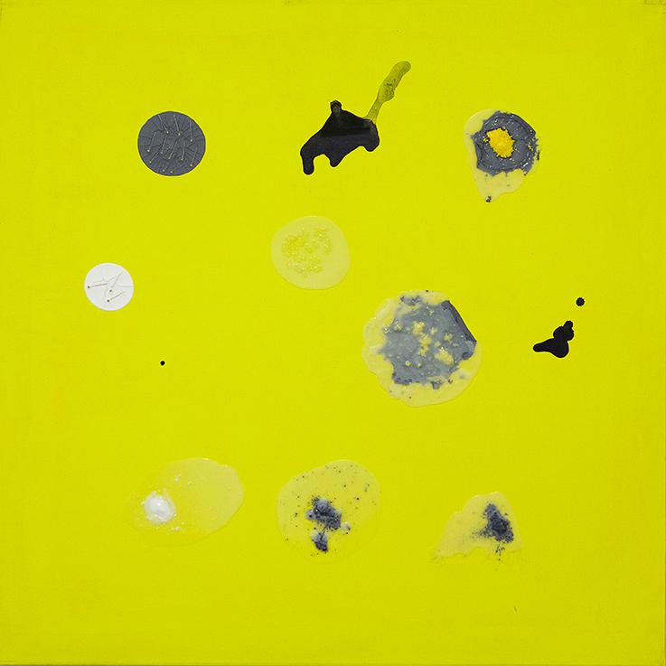 362. untitled - cm 100 x 100 - mixed technique on canvas - 2015 -  ph Carolina Farina