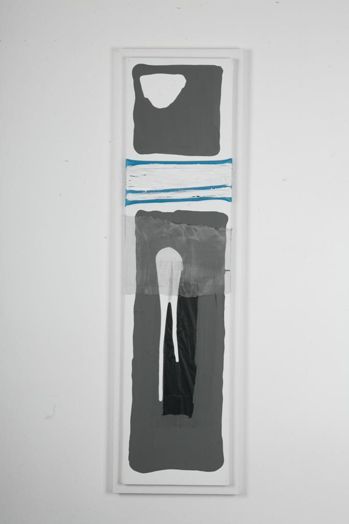 4 emotional diversion  120X30 cm mixed technique on canvas