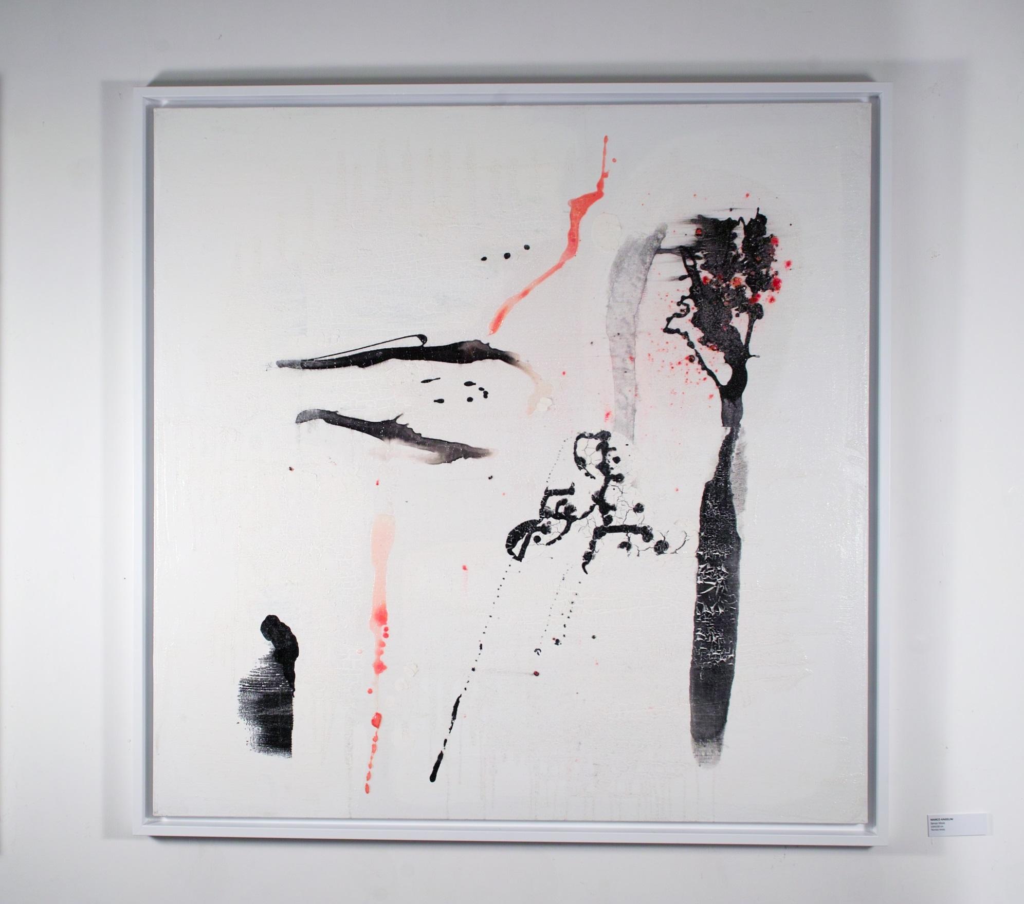 4 senza titolo - cm 100x100 - tecnica mista su tela
