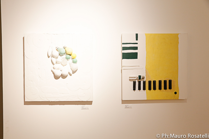 40. Illuminarium and Fusione fredda, 2011 mixed media technique on canvas - 60 x 60 cm (23'' x 23'')