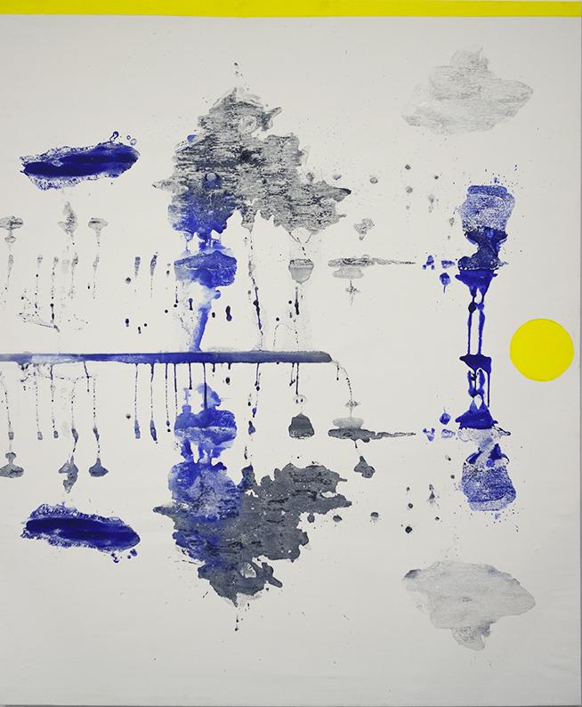 491 - WR cm 159x130 - mixed technique on canvas - 2017 - ph C Farina