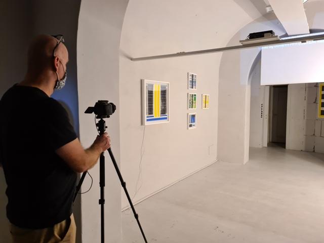 5 LUCEAN, Borghini Arte Contemporanea, first pic after the exhibition set up
