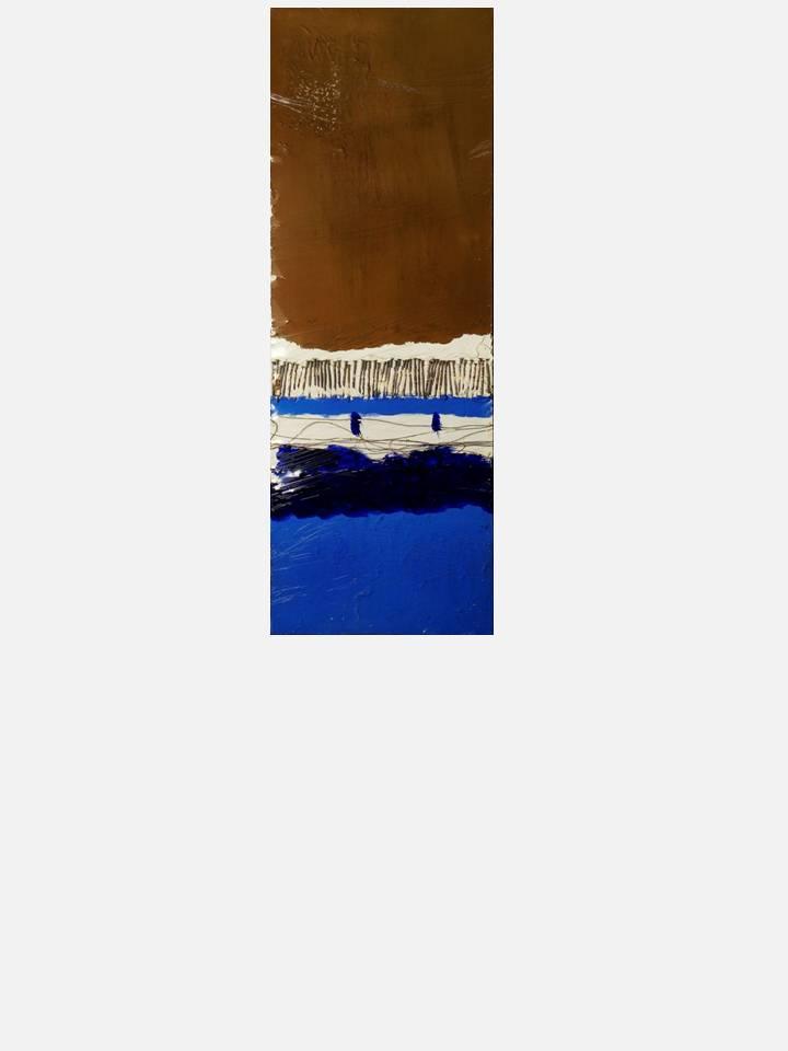 5 - oscillazione periodica – 35 X 100 cm – mixed media technique on canvas