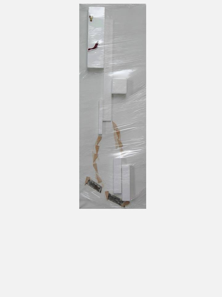 5. man walking - cm 40X120 - mixed media tecnique on canvas
