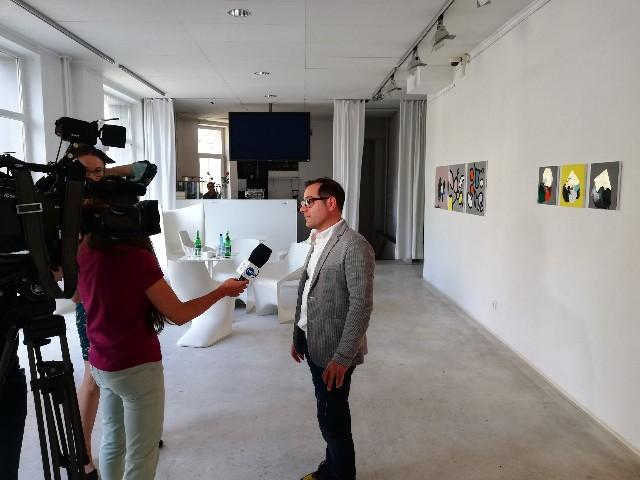 51. Apteka Sztuki - Warsaw - April 2019 - interview with TVN Polish TV