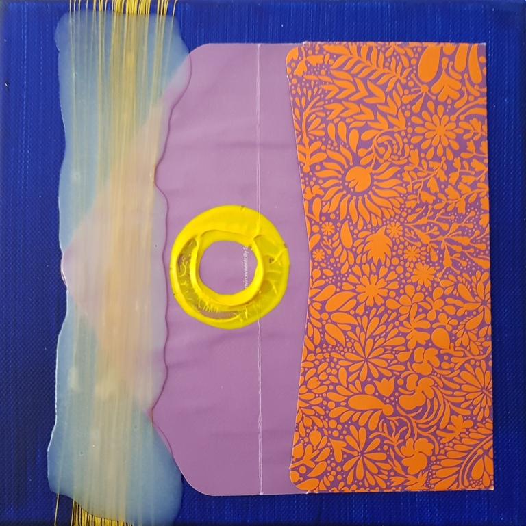 6 - cm 20x20 - mixed technique on canvas