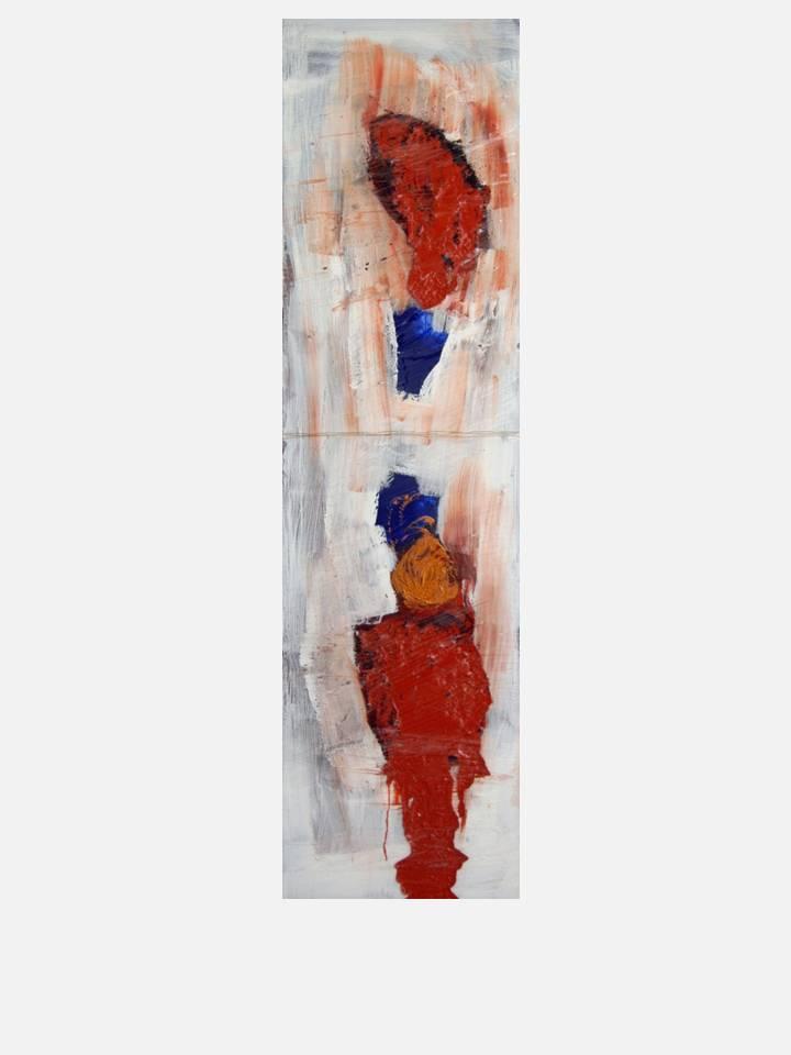 6. galleggiamenti - cm 40 X150 - mixed tecnique on canvas