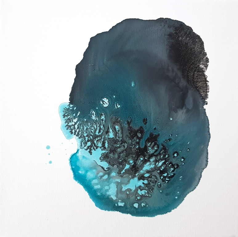7 - cm 20x20 - mixed technique on canvas