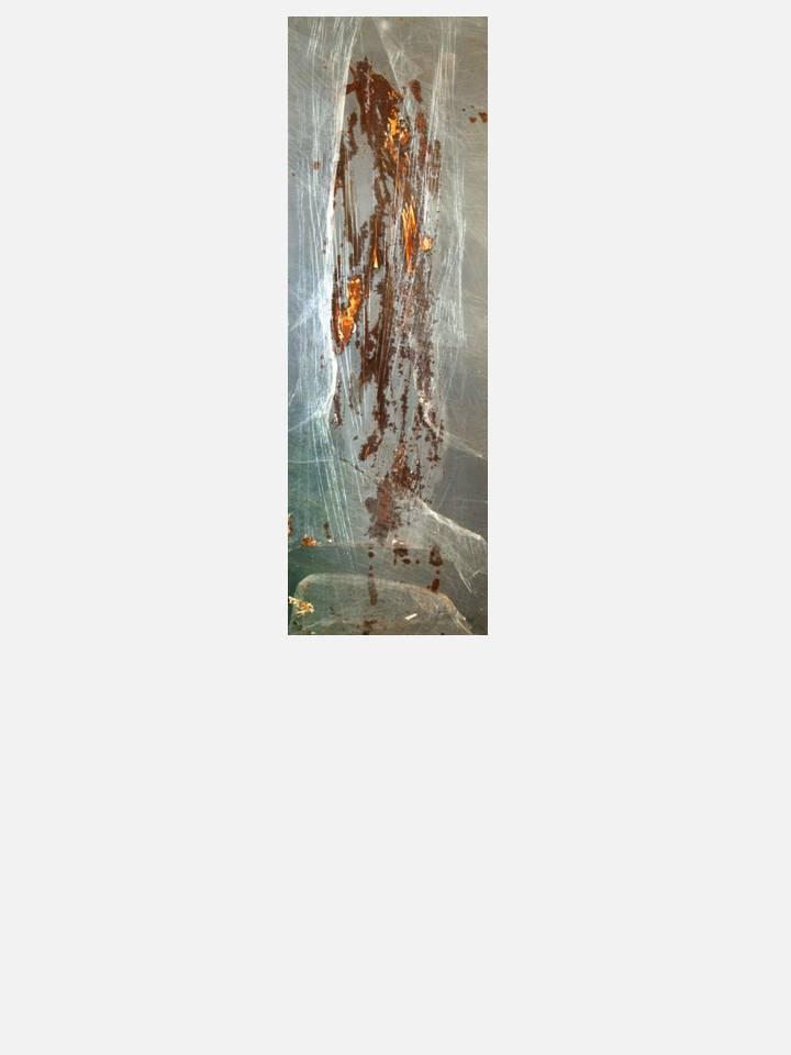 7 - frantumi di uomo – 35 X 100 cm – mixed media technique on iron