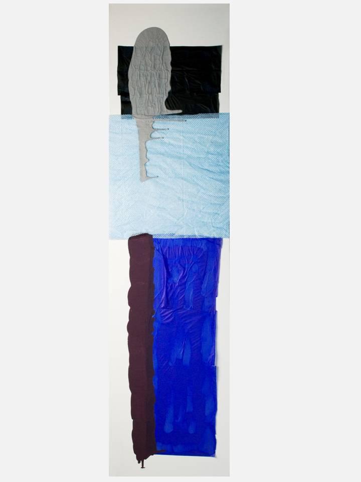 7 -  silent tear 120X30 cm - mixed technique on canvas