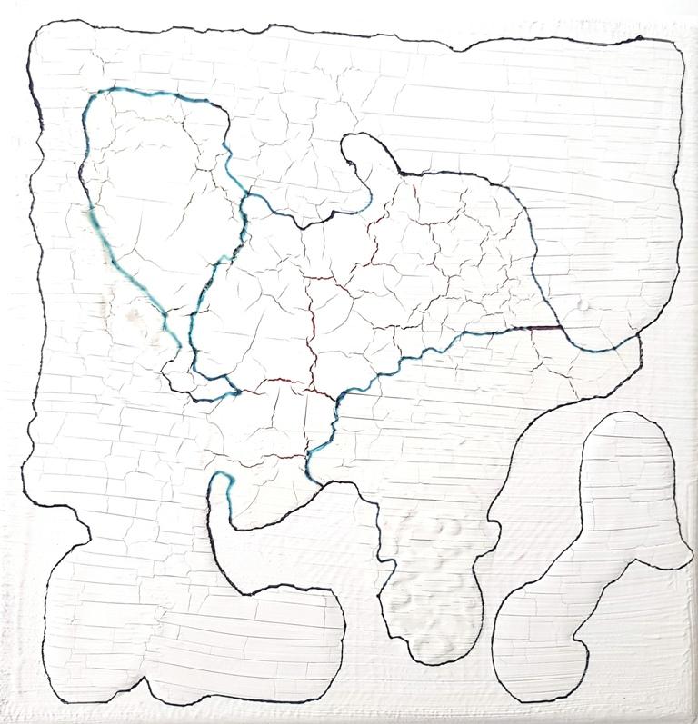 8 - cm 20x20 - mixed technique on canvas