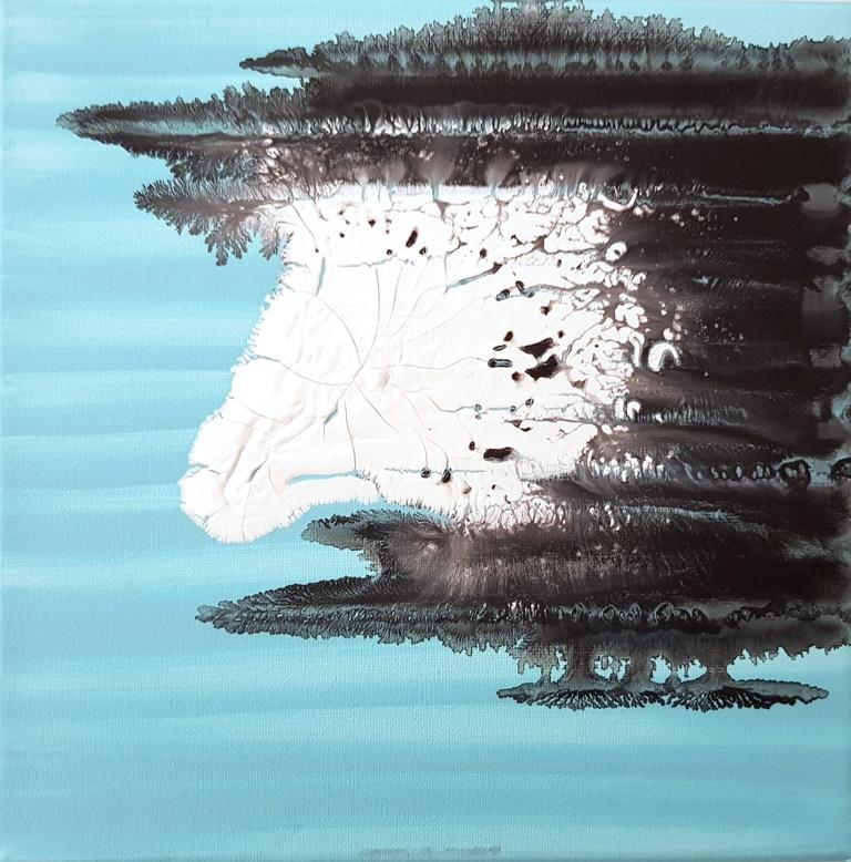9 - cm 20x20 - mixed technique on canvas
