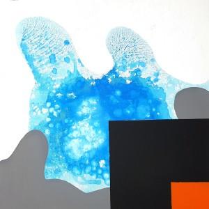 M. Angelini, the liquid nature of life, 2018, cm 60x60, tecnica mista su tela